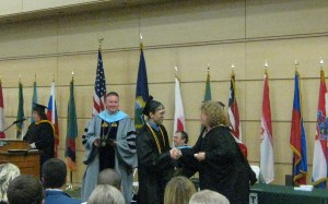 John getting is diploma